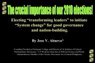 The crucial importance of elections - University of the Philippines ...