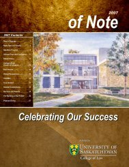 Celebrating Our Success - College of Law - University of ...