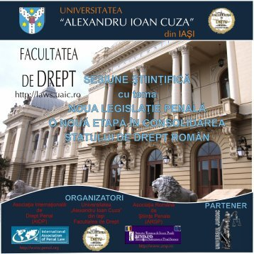 broșură eveniment - Facultatea de Drept - Universitatea Alexandru ...