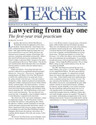 Get this issue as PDF (442 KB) - Institute for Law Teaching and ...