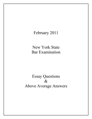 feb 2012 ca bar exam essays
