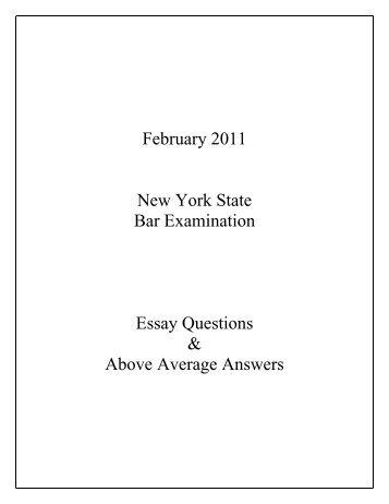 ny bar exam essays july 2013