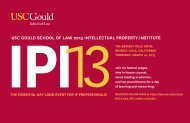 ipi usc gould school of law 2013 intellectual property institute
