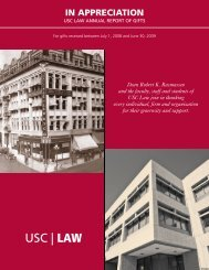 donor report 2008-2009.pub - USC Gould School of Law - University ...