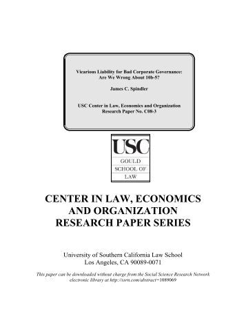 Research in law and economics