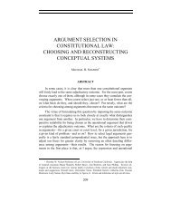 argument selection in constitutional law: choosing - USC Gould ...