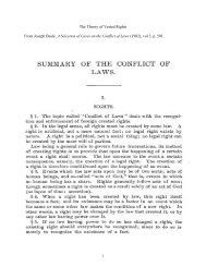 The Theory of Vested Rights From Joseph Beale, A Selection of ...