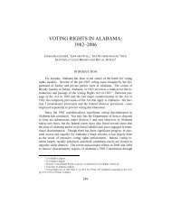 voting rights in alabama: 1982–2006 - USC Gould School of Law