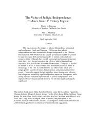 Klerman. Judicial Independence - USC Gould School of Law ...
