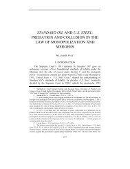 STANDARD OIL AND U.S. STEEL: PREDATION AND COLLUSION ...