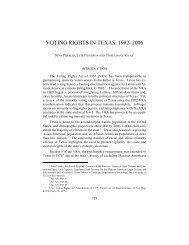 VOTING RIGHTS IN TEXAS: 1982–2006 - USC Gould School of Law