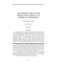the federal circuit and inequitable conduct - USC Gould School of Law
