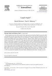 Legal origin? - USC Gould School of Law - University of Southern ...