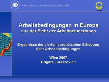 Arbeitsbedingungen in Europa