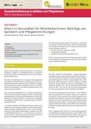 StaDt Wien - Ludwig Boltzmann Institut für Medizin- und ...