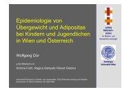 Epidemiologie von Übergewicht und Adipositas bei Kindern und ...