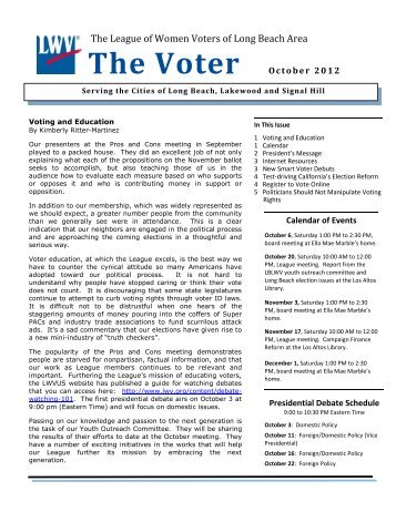 The Voter October 2012 - League of Women Voters of Long Beach ...
