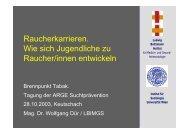 Wie lernen Jugendliche rauchen V1 - Ludwig Boltzmann Institut für ...
