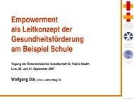 Empowerment - Ludwig Boltzmann Institut für Medizin- und ...