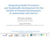 Integrating Health Promotion and Sustainable Development for the ...