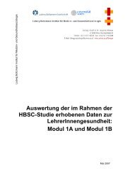 Auswertung der im Rahmen der HBSC-Studie erhobenen Daten zur ...