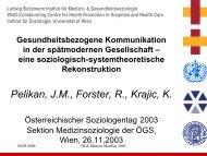 Krankheit/Gesundheit - Ludwig Boltzmann Institut für Medizin- und ...