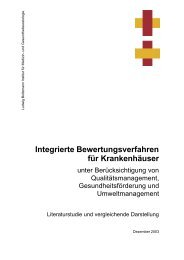 Integrierte Bewertungsverfahren für Krankenhäuser - Ludwig ...