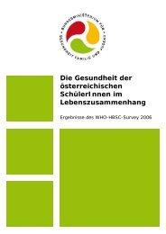 Die Gesundheit der österreichischen SchülerInnen im ...