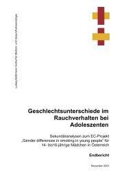 Aichholzer N., Friedhuber, J.(2003) - Ludwig Boltzmann Institut für ...