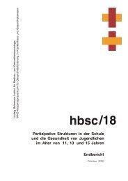 hbsc/18 - Ludwig Boltzmann Institut für Medizin- und ...