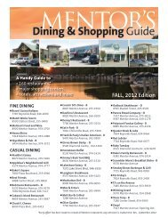 Shopping & Dining Guide - City of Mentor