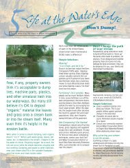 Don't Dump! - Chagrin River Watershed Partners