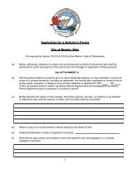 Solicitor's Permit - City of Mentor