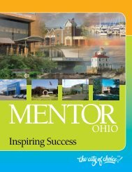 2011 Economic Development Brochure - City of Mentor