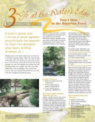 Don't Mow in the Riparian Zone - Chagrin River Watershed Partners
