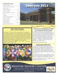 June-July newsletter - City of Mentor