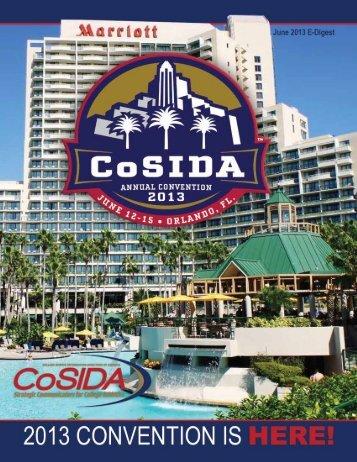 CoSIDA E-Digest June 2013 • 1