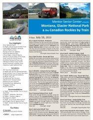 Montana, Glacier National Park & Canadian Rockies ... - City of Mentor