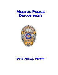 Mentor Police Department Department - City of Mentor