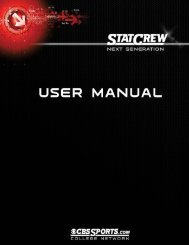 Stat Crew Next Generation User Manual - CoSIDA