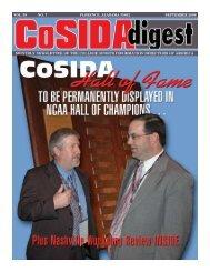 vol. 58 no. 7 florence, alabama 35632 september 2006 - CoSIDA
