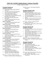 2005-06 CoSIDA Publications Contest Results