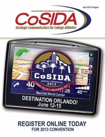 CoSIDA E-Digest April 2013 • 1