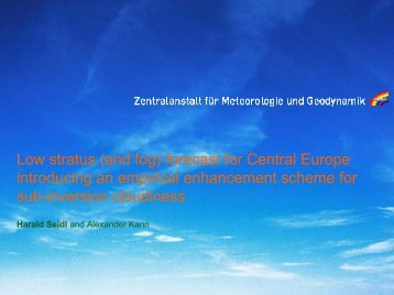 Low stratus \(and fog\) forecast for Central Europe ... - LCRS