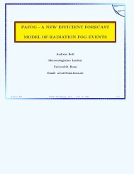 pafog - a new efficient forecast model of radiation fog events - LCRS