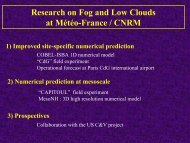 Research on Fog and Low Clouds at Météo-France / CNRM - LCRS