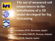 The use of measured soil temperatures in the initialisation of ... - LCRS
