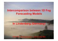 Intercomparison between 1D Fog Forecasting Models In ... - LCRS