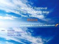 Low Cloud Retrieval for Day and Night-time from MSG data ... - LCRS