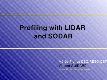 Profiling with LIDAR and SODAR - LCRS